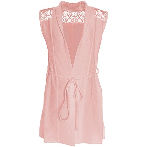 BEZLIT Mädchen Cardigan Kinder Bluse Kleider Ohne Arm Shirt Longsleeve Sweatshirt 21158 Rosa Größe 128