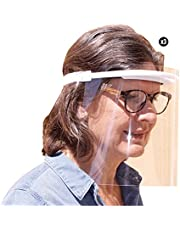KMINA PRO - Gelaatsscherm - Spatmasker - Beschermkap - Bescherming voor gezicht - Anti-Condens - 4 Stuks