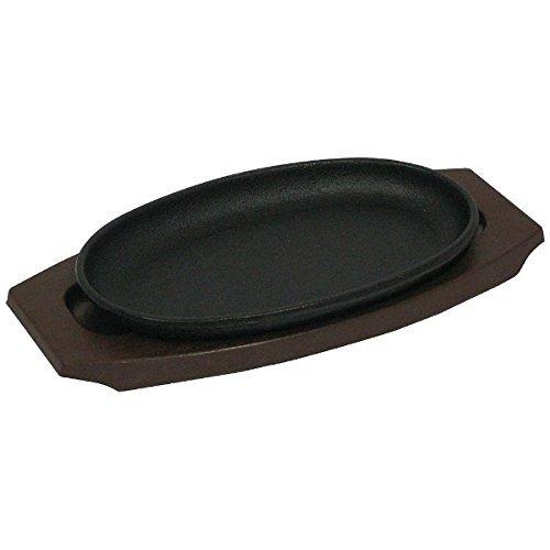 中部コーポレーション『トキワ鉄ステーキ皿(樹脂台タイプ)小判 24cm』