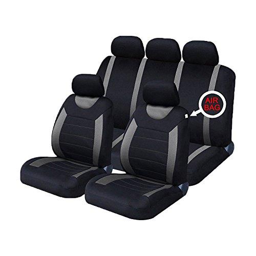 XtremeAuto® - Fundas clásicas para asientos de coche, fundas frontales y traseras con reposacabeza