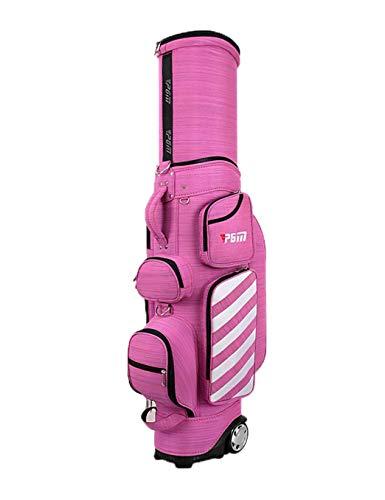 Mochila de golf bolsa de golf impermeable de múltiples funciones Golf telescópica Bolsa con el casquillo de la bola de la polea de Shell duro del bolso de aire multicolor adecuado for deportes al aire