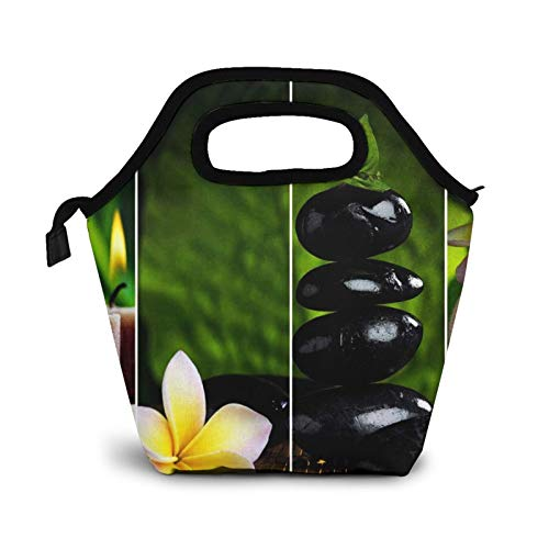 Insulated Lunch Bag Lunch Box for Men Women Adults Boys Girls Waterproof Tote Cooler Bag Picnic Cool Bag Spa Decor Candle Bamboo