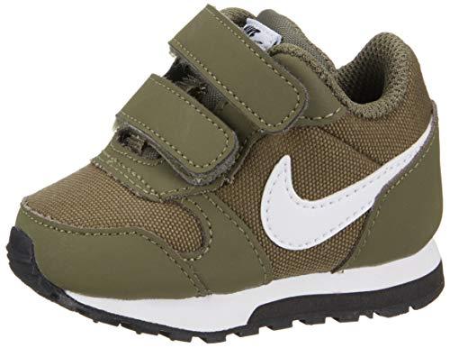 Nike Unisex-Kinder Md Runner 2 (TDV) Laufschuhe, Mehrfarbig (Medium Olive/White-Black 201), 26 EU