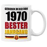 GESCHENK1 DDR Jahrgangstasse 330ml – personalisierte Kaffeetasse mit Jahrgang/ Geburtsjahr 1970 – Tasse personalisiert/ Kaffeebecher personalisierbar als...
