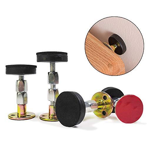 4 Packungen Verstellbarer Bettgestell Adjustable Thread Frame Bettrahmen Anti-Shake-Tool Teleskopstütze für die Raumwand Anti-Shake-Werkzeug Teleskopstütze für Bett, Schrank, Stuhl, Sofa, Kühlschrank