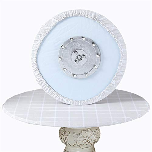 SYLC Mantel redondo resistente al agua antideslizante, manteles redondos para mesa circular, protector de mesa redondo resistente al calor y fácil de limpiar (rejilla beige, 110 cm)