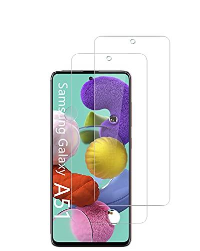 UNO' Protector pantalla cristal templado 2 Unidades compatible con Samsung Galaxy A51 / A51 5G, Vidrio Templado Ultra Resistent Sin Burbujas, 9H, Antiarañazos, Apto Para Samsung Galaxy A51 / A51 5G