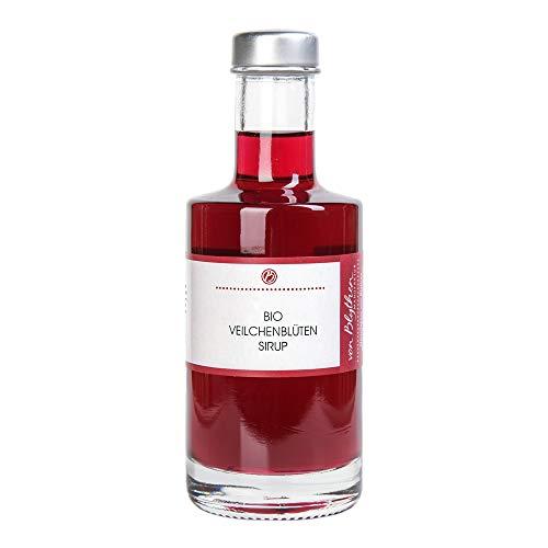 Bio Sirup Veilchen, Veilchensirup aus echten Veilchenblüten – Manufaktur von Blythen