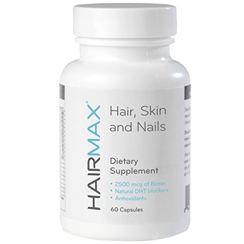 HairMax for Hair, Skin and Nails Dietary Supplement, 60 Count (1 Pack)