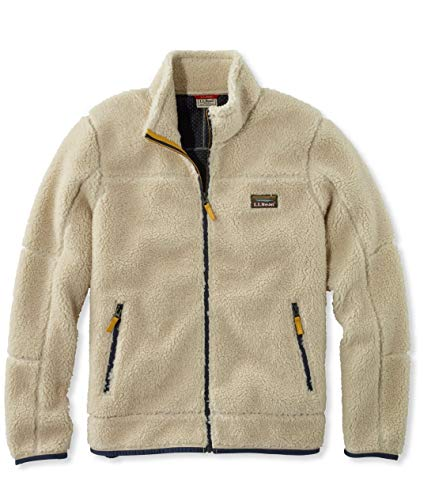 L.L.Bean(エルエルビーン) メンズ マウンテン・パイル・フリース・ジャケット 米国フィット・レギュラー Lサイズ ホワイト 0SDQ475006