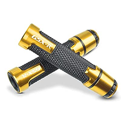7/8'' 22mm Motorcycle CNC Aluminum Powersports Handlebar Grips with Grip ends For Suzuki GSXR 125 250 300 600 750 1000 Gold
