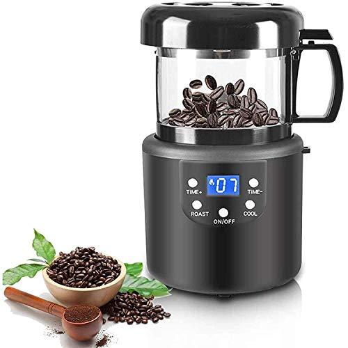 LKNJLL Tostador de café, máquina de tostador de grano de café con el tiempo con la visualización LED y la ventana visual, 110V / 220V Café eléctrico de tostador de tostador de tuercas de cacahuetes de