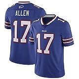 Sports brodés Sports Short Sleeve Jersey Allen # 17 Jersey de Rugby, Jersey Football américain Jersey Jersey Jersey Jersey Fans Formation T-Shirts M