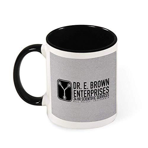 IUBBKI Dr E Brown Enterprises Regreso al futuro Taza de café de cerámica Taza de té, regalo para mujeres, niñas, esposa, mamá, abuela, 11 oz