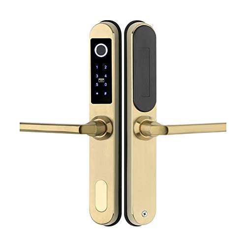 Fingerprint Türschloss, Digitaler Biometric Deadbolt Touch-Screen-Tastatur Keyless Smart Lock mit Fingerprint/Smart Card/Bluetooth Entriegeln WiFi TT-Verschluss