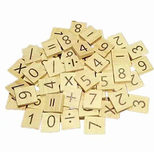 Zeagro 100 Stück Holz Alphabet Fliesen Scrabble Buchstaben für Kinder pädagogische Kunst Basteln DIY Stil Nr. 4