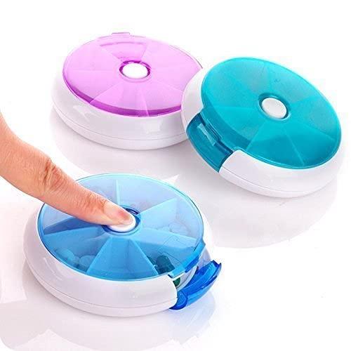 Apurv Small Pill Box, Box Mini Vitamin Pill Tablet Case Organizer Travel Medicine Storage Box Folca Case 8 Lattices,