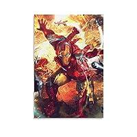 アイアンマンフィルム ポスター壁画装飾絵画ギフト壁アーティスト家の装飾室内装飾キャンバス絵画リビングルーム子供部屋の装飾 16×24inch(40×60cm) Unframe-style1