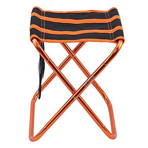 QQSA Silla plegable para pesca al aire libre, portátil, ligera, plegable, para picnic, camping, color naranja