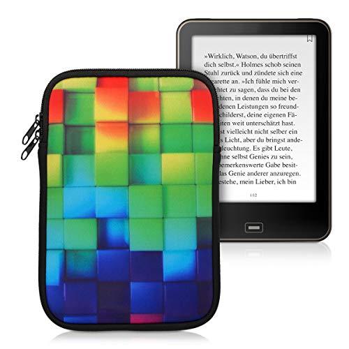 kwmobile Funda para e-Reader 7.8' - Bolsa de Neopreno con Cierre para e-Book - Estuche Cubos Colores