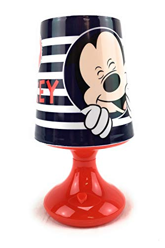 Lampe de Chevet, Mickey Mouse (Rouge) - Mini lampe Led, Effets Lumineux, Mickey - Disney