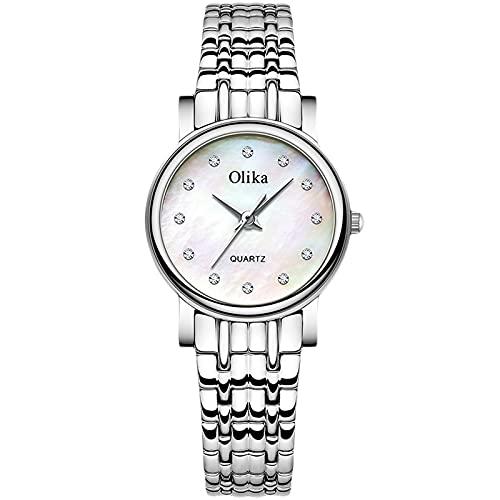 RORIOS Mujer Relojes Impermeable Cuarzo Reloj con Correa en Acero Inoxidable Moda Diamante Reloj de Pulsera para Mujeres Chica