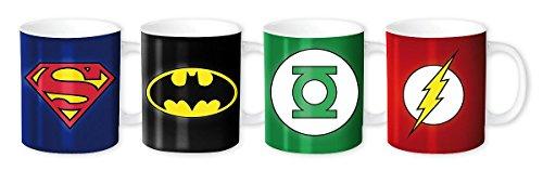 Batman DC Comics 4 Espressotassen mit verschiedenen Superheld- Motiven