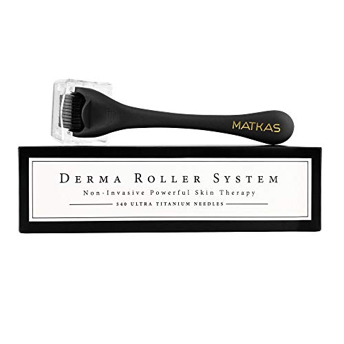 Matkas Derma Roller for Face, Visibly Increase Skins Absorption of Serum and Moisturizer, Dermatologist-Recommended, 0.25mm, Includes Cap Cover for Microneedle Roller