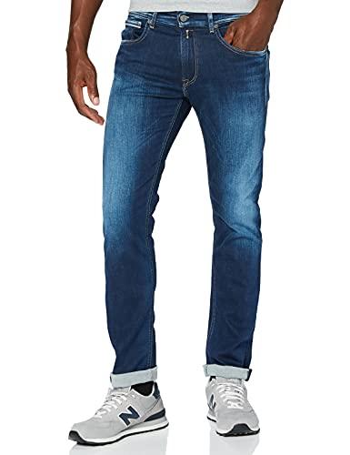 Replay Herren Grover Straight Jeans, Blau (Medium Blue 9), 30W / 32L