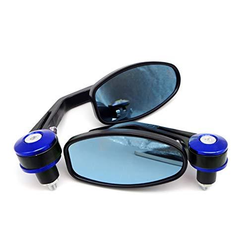 gzcfesbn 7/8'''Motorcycle Bar End Mirror Moto Retrovise Espejos para Suzuki GSXS 1000 SV 650 LTR 450 GSF 600 Bandit C50 Boulevard GN 125 GIXXER HSGZC (Color : Blue)