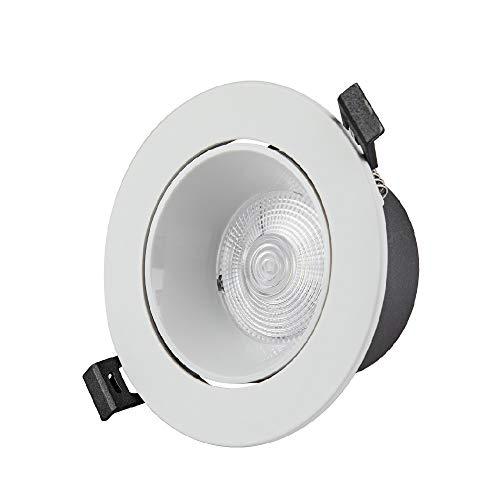 Koliyn Moda clásica Redonda de Aluminio Focos empotrar Techo Lámpara empotrada Europea downLamp la Sala de Techo Focos de Panel Plano Comercial Embedded Integrado Montaje de Rejilla de Luz