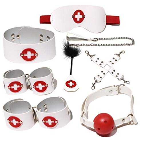 ZXCV 8-teiliges Bùndle Kit Bdm Rêtr Î t êx Töy 4 Cöùplê För Mê Wömê H dcùff Brettspiel, lustiges Spielzeug für Paare (Farbe: Weiß).