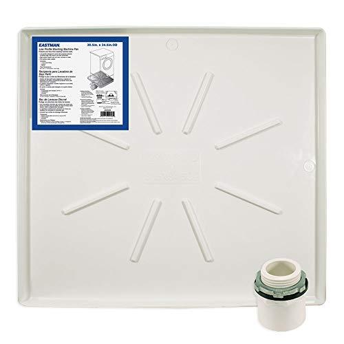 Eastman 52528 Washing Machine Drain Pan, 30.5 inch x 34.5 inch, White