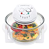vidaXL Halogen Convection Oven with Stainless Steel Extender Ring, Healthy Low Fat Cooking,Halogen Oven Countertop, for French Fries,Chips Roasting, Grilling, Baking, Cooking( 1400 W 17.9 Quart)