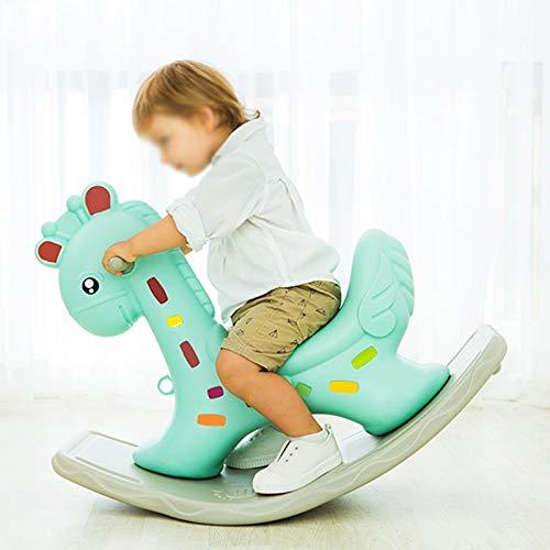 NXYJD Kinder Schaukelpferde Cartoon Verdickung Kunststoff Baby Indoor Balance Schaukelstuhl Kindergartenfahrt für Kinder Spielzeug