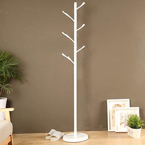 LIANGLIANG Porte-Manteau Modélisation innovante Branches d'arbre Cintre Métal Fer Longueur 32cm / Hauteur 175cm Deux Couleurs à Choisir (Couleur : Blanc)