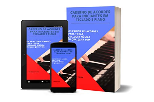 Caderno de acordes para iniciantes em Teclado e Piano (Portuguese Edition)