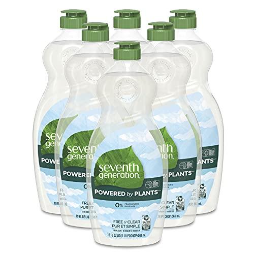 Seventh Generation Dish Soap Liquid Free Clear, 19 Fl Oz...