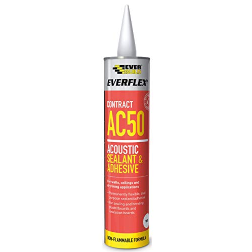 Everbuild AC50 Everflex Acoustic Sealant and Adhesive - White - 380 ml