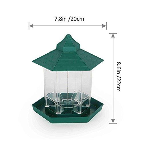 PetsN'allバードフィーダー【エサの容量を簡単把握・広いフィードスペース・約1kgのエサを設置可能】屋根付き