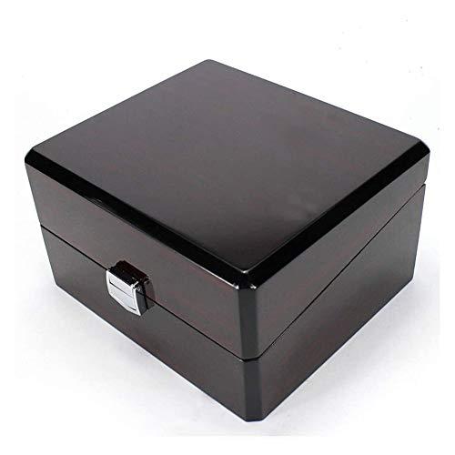 Cartones para embalaje Caja de reloj Caja de reloj Caja de almacenamiento para 1 reloj único para la mayoría de los relojes (color: negro, tamaño: 17X15X9.5CM) Caja de cartón de embalaje