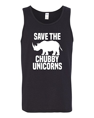 Save Chubby Unicorns | Funny Hip Unicorn Lover | Mens Pop Culture Graphic Tank Top 5