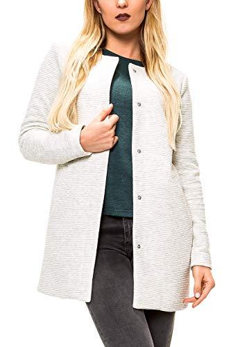 ONLY Damen Übergangsmantel Kurzmantel Leichte Jacke Chic Business Coat (L, Oatmeal/Melange)