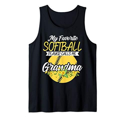 My Favorite Softball Player Calls Me Grandma Gift Gigi Nana Tank Top