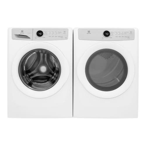 """Electrolux Front Load Steam EFLW317TIW 27"""" Washer with EFDE317TIW 27"""" Electric Dryer Laundry Pair in White"""