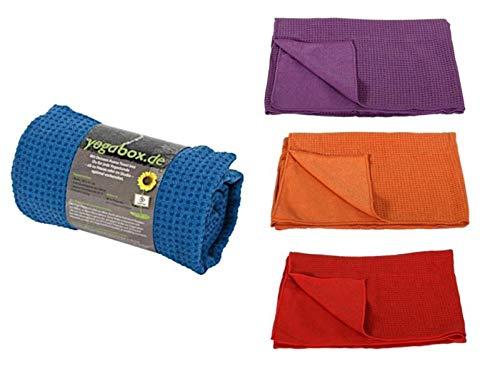 Deuser Yogatuch mit Antirutschnoppen orange ROT - -