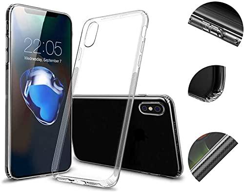 JDIWS Compatibile con Apple iPhone X Custodia in silicone con protezione antipolvere, TPU trasparente ultra sottile – sottile – Cover trasparente trasparente – 0,8 mm