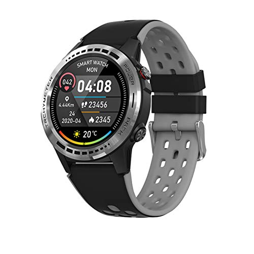 JXFF Menú para Hombre M7C Smartwatch GPS Altímetro Barómetro Compás De La Aleación De Las Mujeres De Los Hombres IP67 Impermeable Al Aire Libre Reloj Inteligente para Android iOS,B