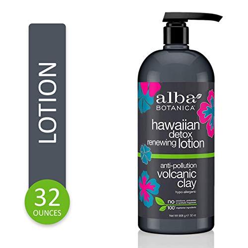 Alba Botanica Anti-Pollution Volcanic Clay Hawaiian Detox Renewing Lotion, 32 Ounce
