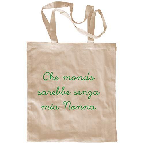 My Custom Style Borsa Shopper Cotone Beige#Nonni-Mio Nonna# M70